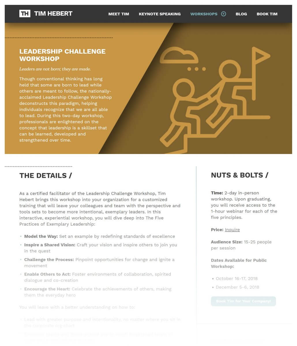 Leadership Challenge Workshop, Intentional Leadership